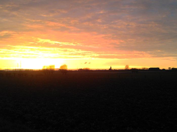 zonsondergang Otegem bewerkt