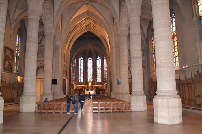 binnen in de kathedraal