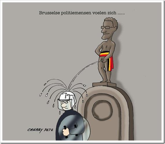 politiemensen Brussel