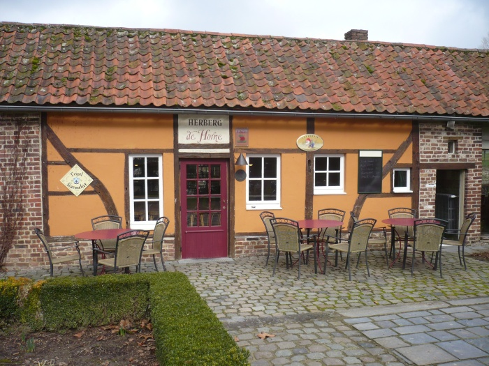 Herberg de Horne in Vechmaal, waar wij het voorgerecht kregen op onze Happen en trappen fietstocht