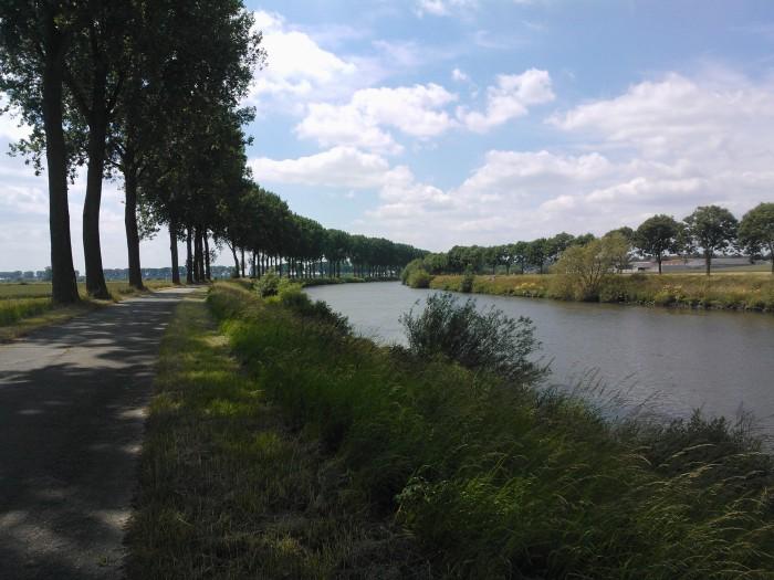 jaagpad langs de Schelde, tussen Escanaffles en Bossuit